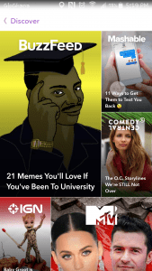 The Snapchat Discover Feature