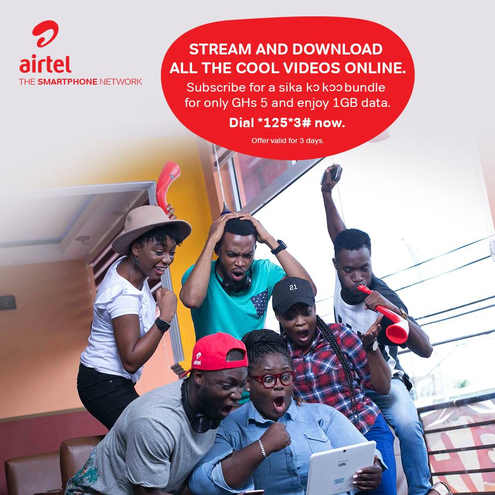 With #SikaKokoo 1GB bundle, it's never a dull moment. Dial *125*3# now to get started.
