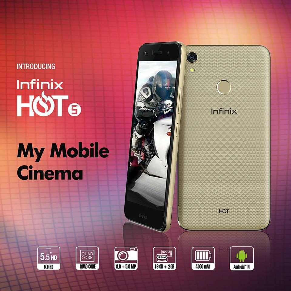 Infinix HOT5 will serve as your mobile Cinema