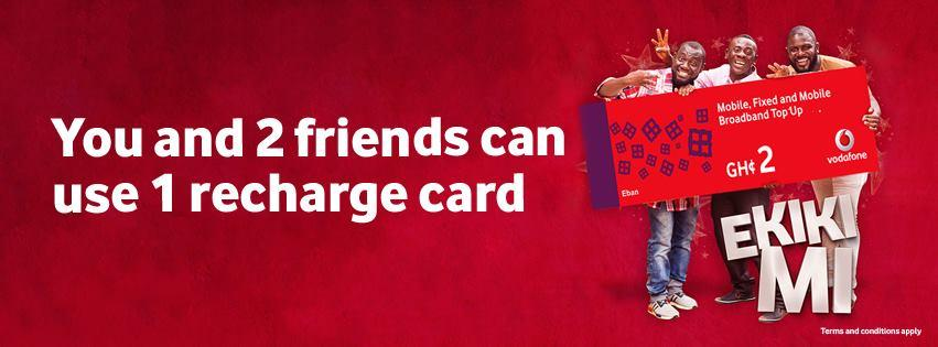 Vodafone Ekiki Mi Promo: How 3 People can use 1 recharge card 3 times