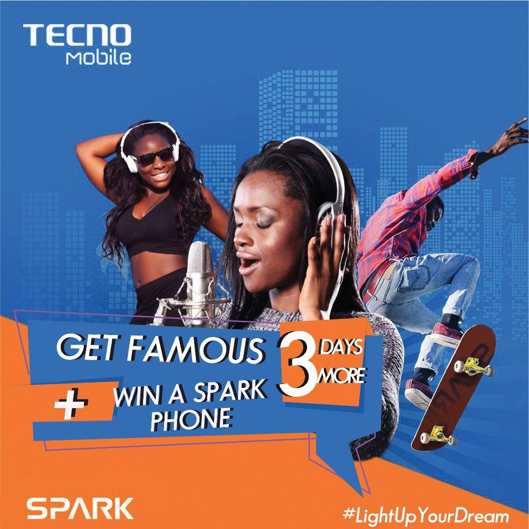 Promo: Win a New Tecno Spark, Gifts, Prizes and unveil your talent