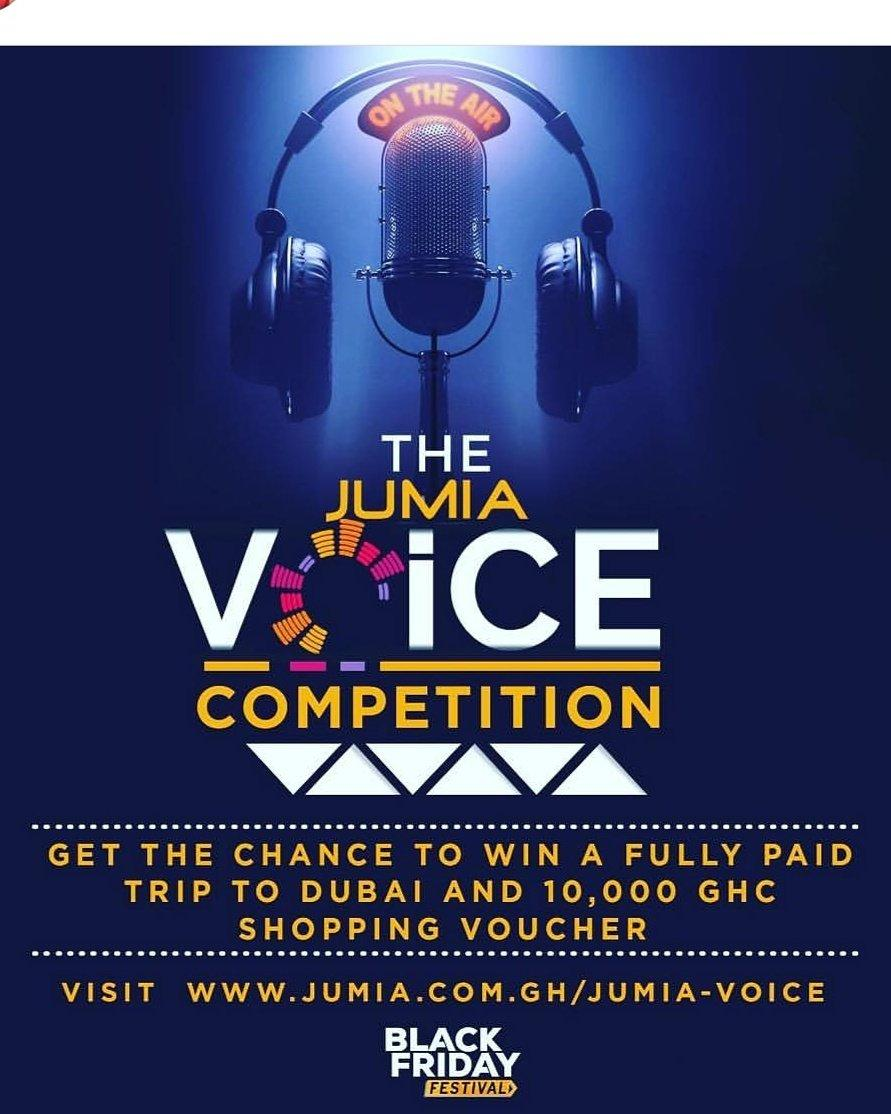 The Jumia Voice Competition: Win Trip to Dubai + GHS 10,000 by Singing