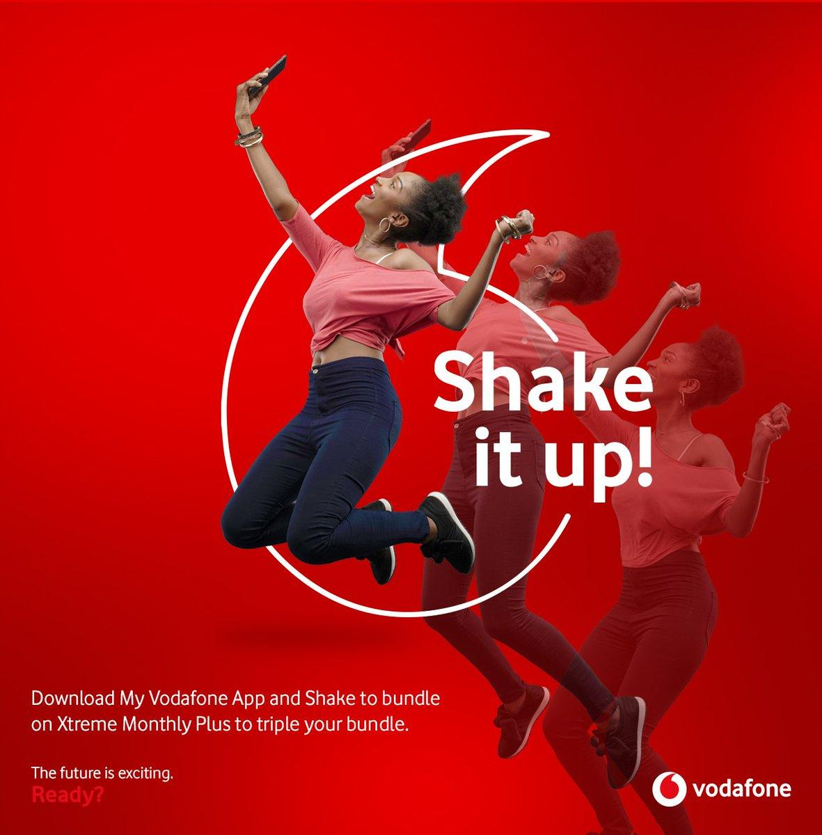 Vodafone X is 3 years! #ShakeForXtra on your phone to get free rewards
