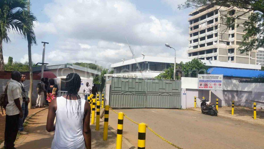 Outside view of the Passport Application Centre in Accra, Ghana.