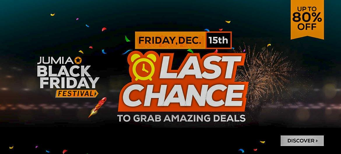 Last Chance! Jumia Black Friday Ends today with Mega 80% Off Deals
